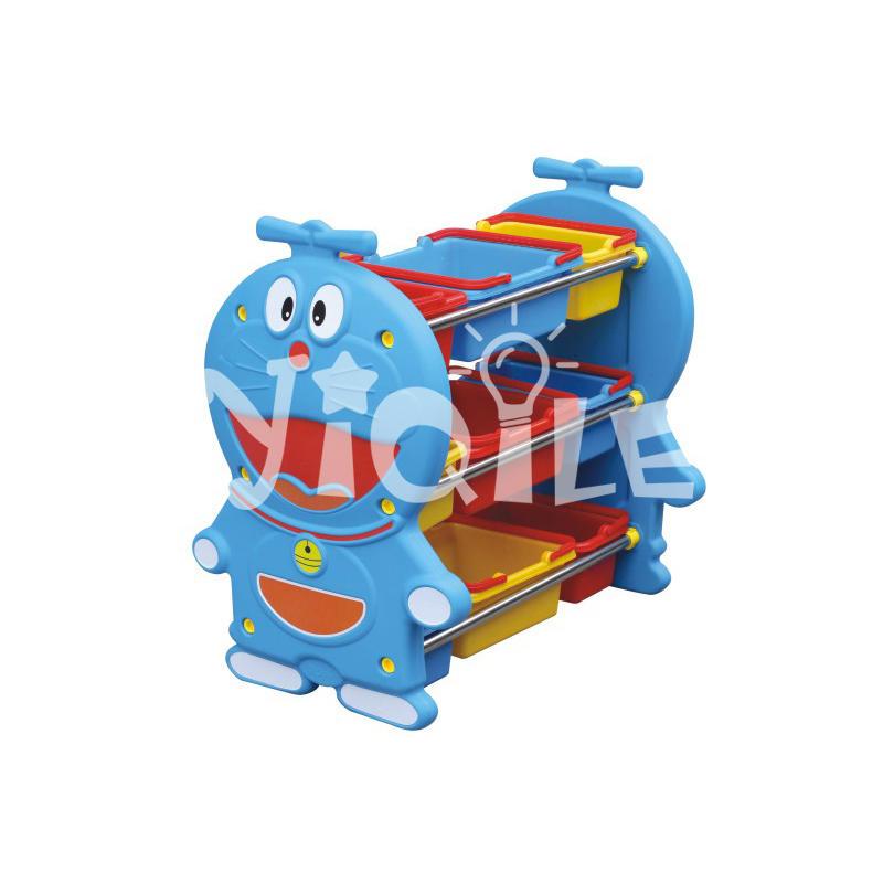 Kindergarten furniture plastic Doraemon modeling toy storage for children
