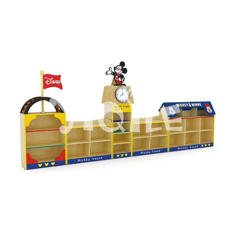 Hello Mickey modeling toy storage cabinet nursery school furniture on sale