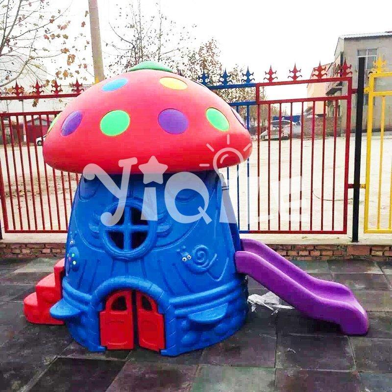 Classic style lovely chromatic mushroom Slide child playhouse on sale