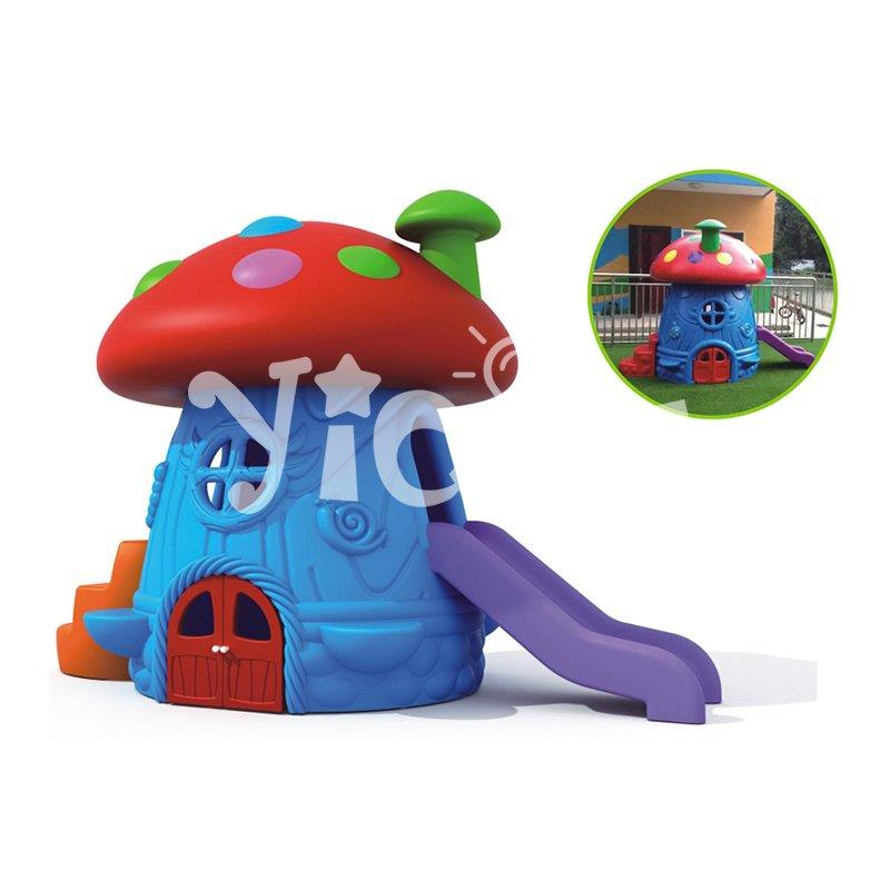 Classic style lovely chromatic mushroom Slide child playhouse on sale